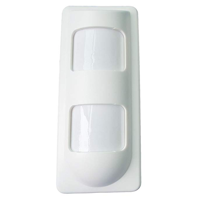 SUNLIT TECH OTD-40T Wired 2 Pir and Microwave Motion Detector for Outdoor Protection (White)