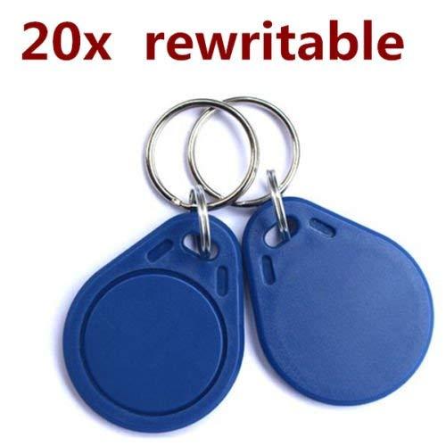 20pcs T5577 125KHz Rewritable Key tags Empty Card programtable!