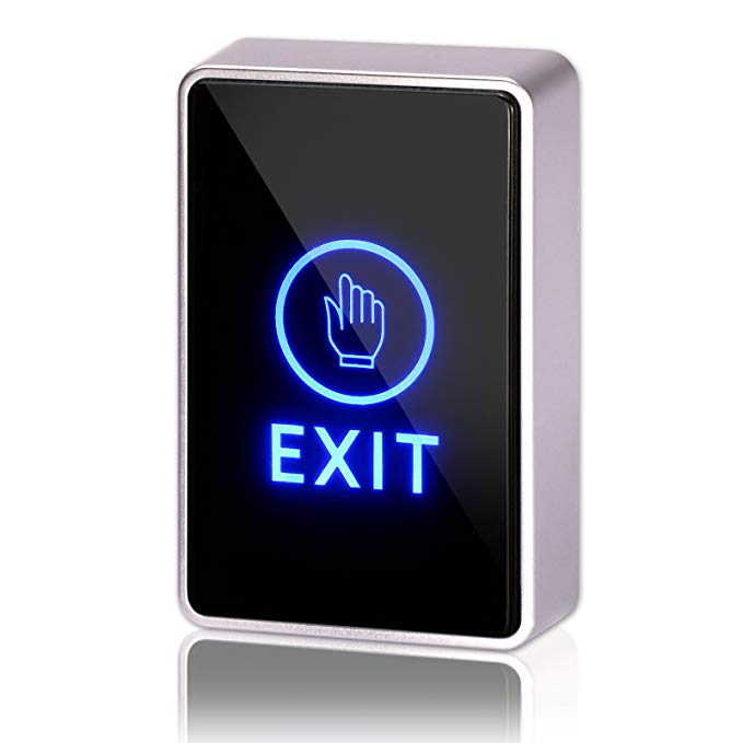 DC 12V NC NO Rectangular, ZOTER Touch Sensor Door Exit Release Button Switch LED Light